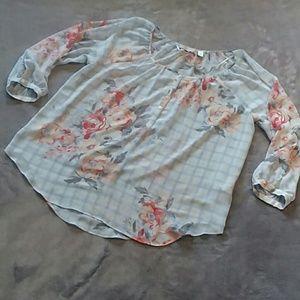 Lauren Conrad women's size L sheer blouse